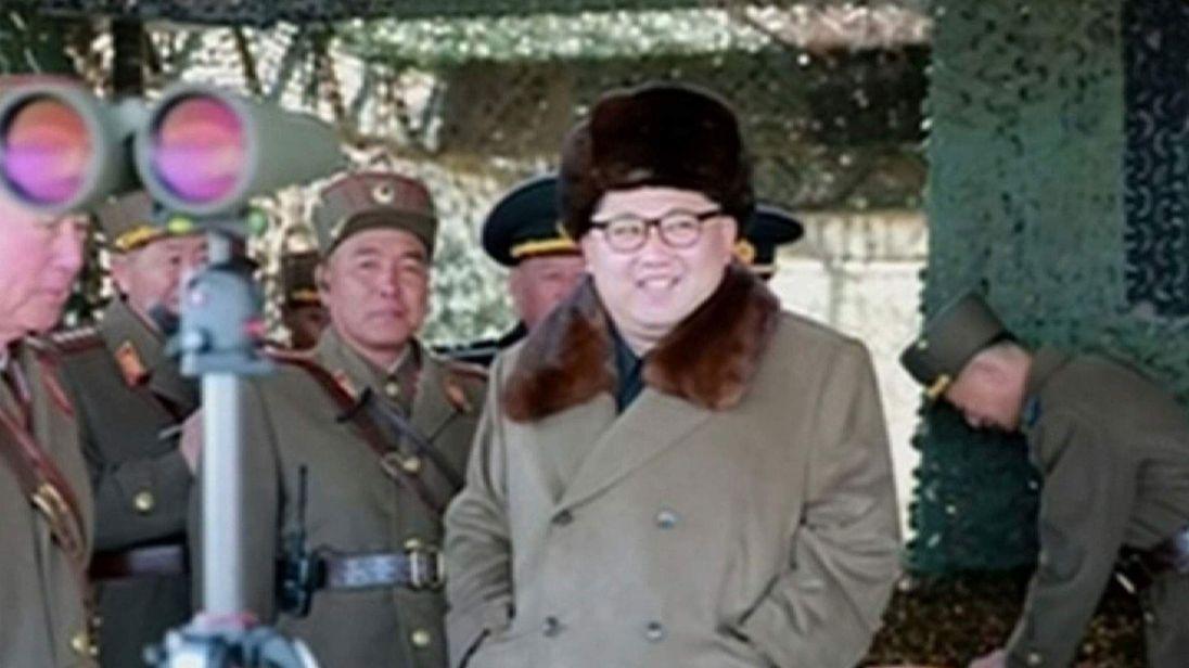 Kim Jong-Un inspects military drills