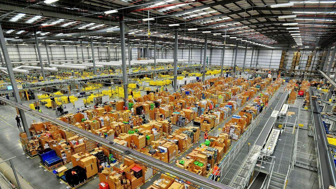Amazon warehouse in Hemel Hempstead