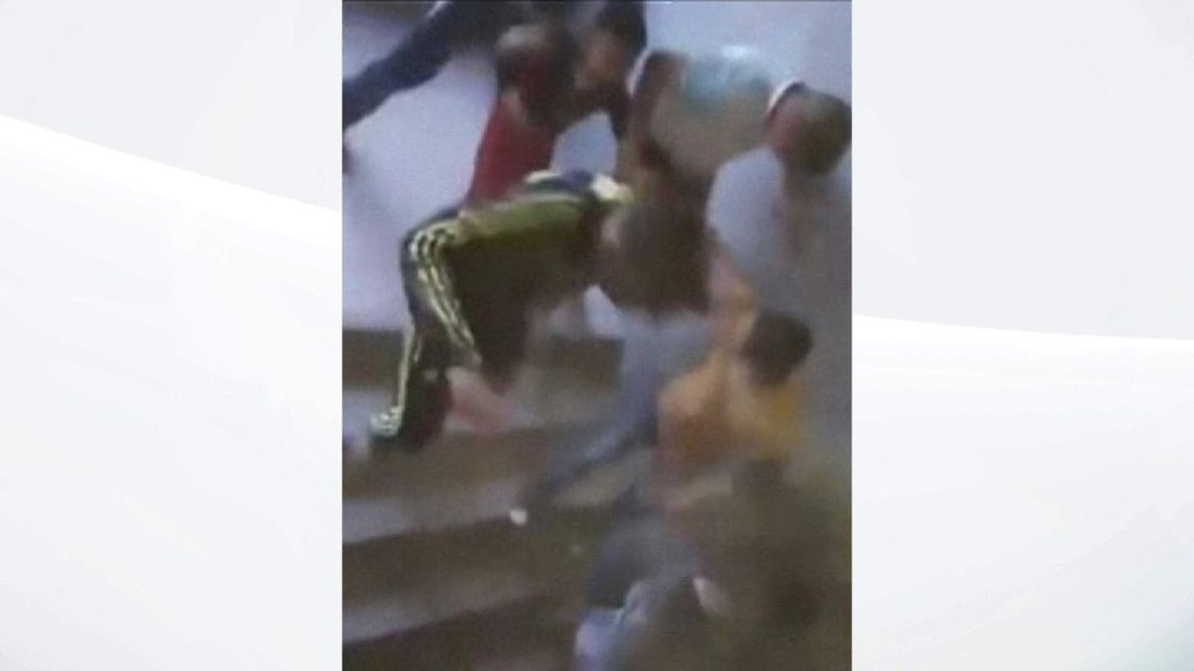 Mobile phone video showing panic after football bombing in Iraq 2