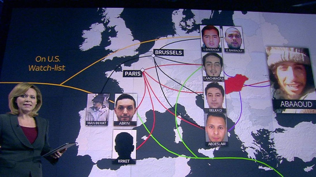 Ties between Brussels and Paris attackers