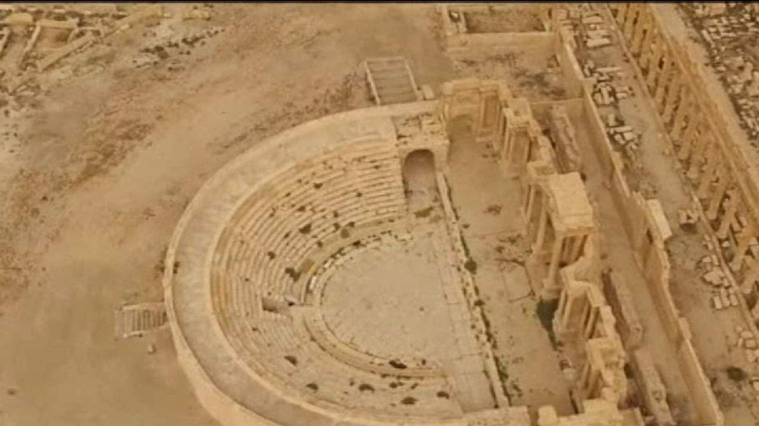 Drone Footage Of Liberated Palmyra