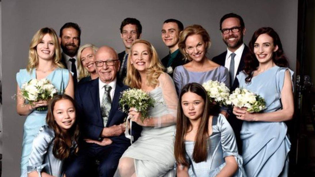 Jerry Hall and Rupert Murdoch wedding