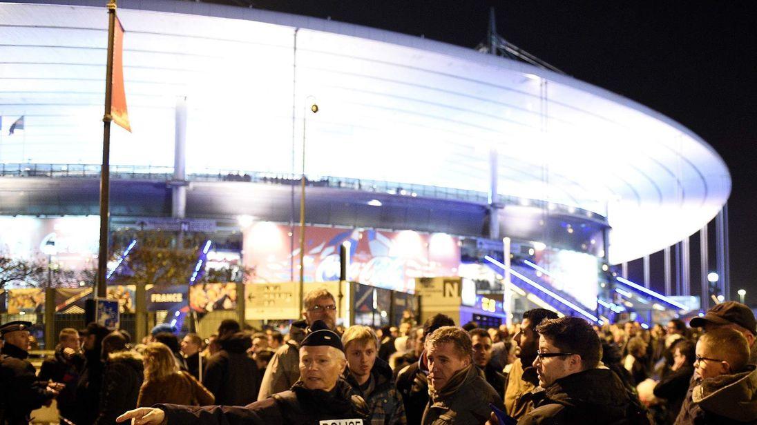 Outside the Stade de France stadium as terror attacks unfolded