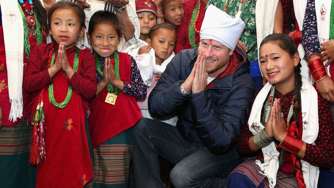 Prince Harry in Nepal