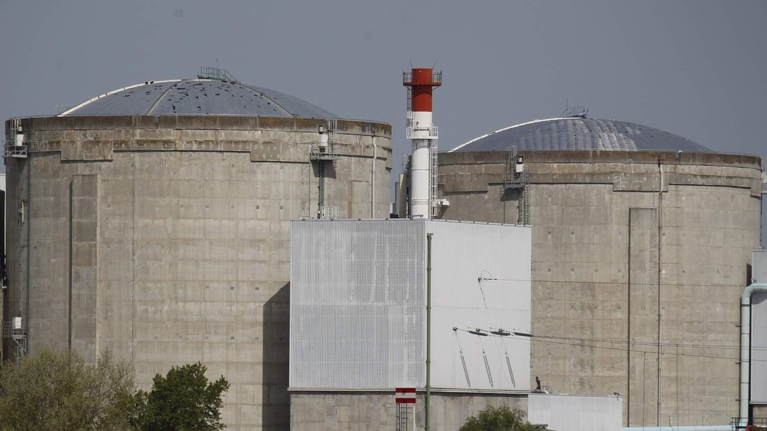 A view of France's oldest Electricite de France (EDF) nuclear power station is seen in Fessenheim near Colmar
