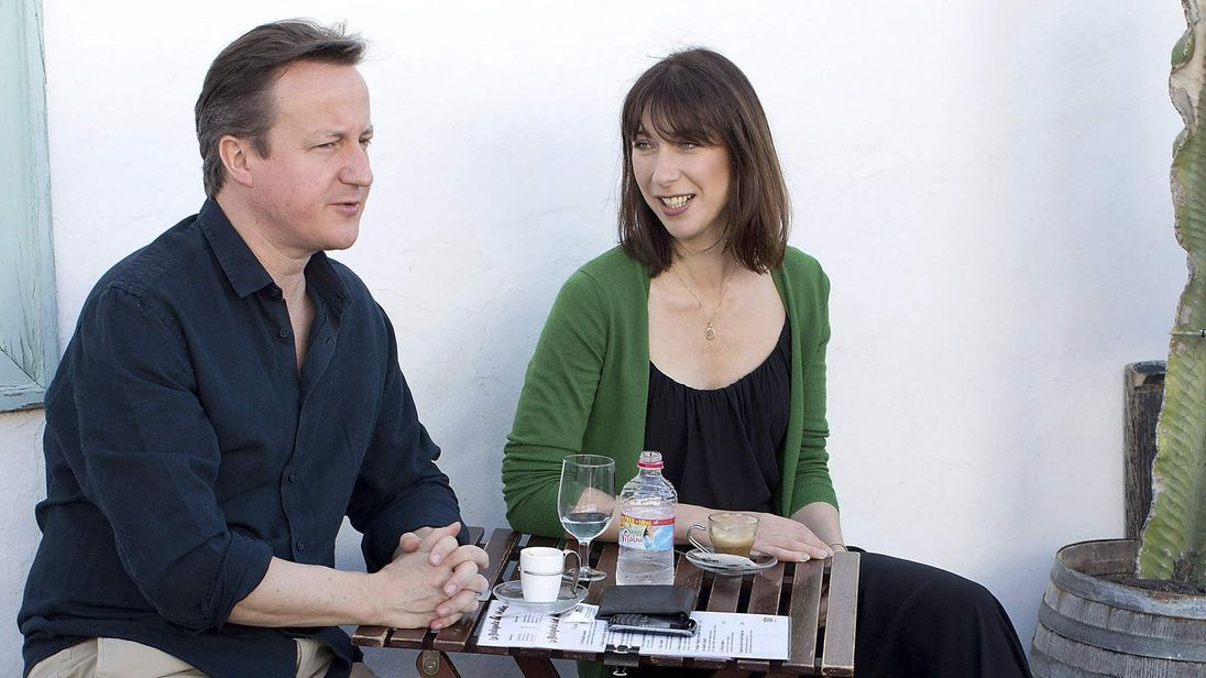 Britain's Prime Minister David Cameron and his wife Samantha holiday on the Spanish Canary island of Lanzarote