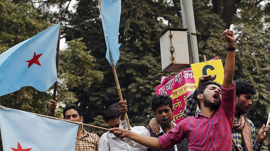 India Students Rally Over Free Speech Crackdown