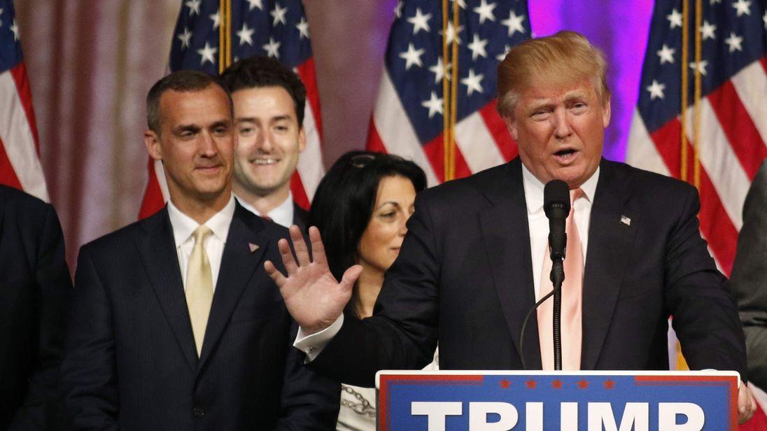 Corey Lewandowski and Donald Trump