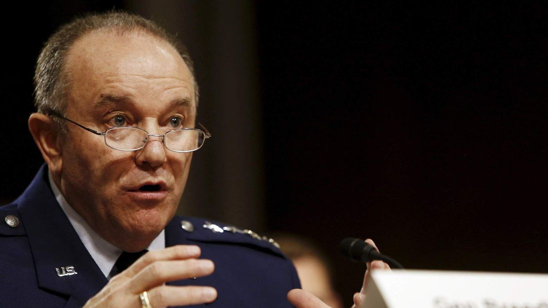 Breedlove testifies before a Senate Armed Services Committee hearing on Capitol Hill in Washington