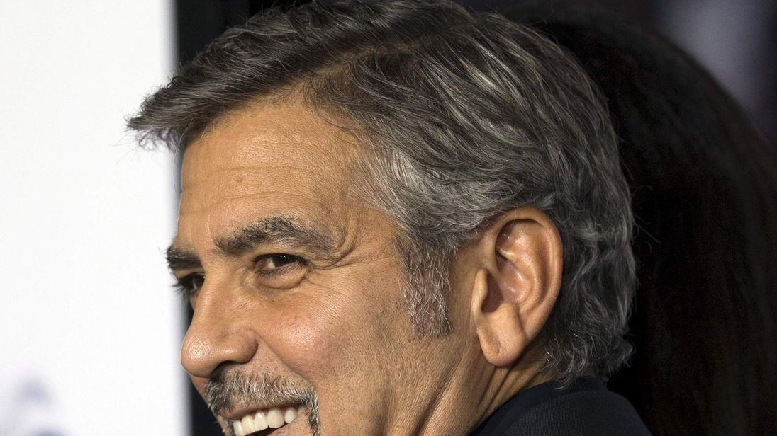 """Producer Clooney attends the premiere of """"Our Brand Is Crisis"""" in Hollywood"""