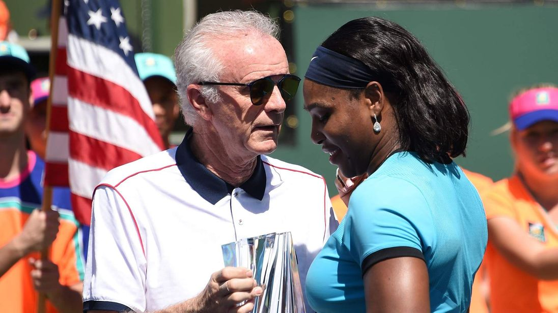 Raymond Moore (L) and Serena Williams