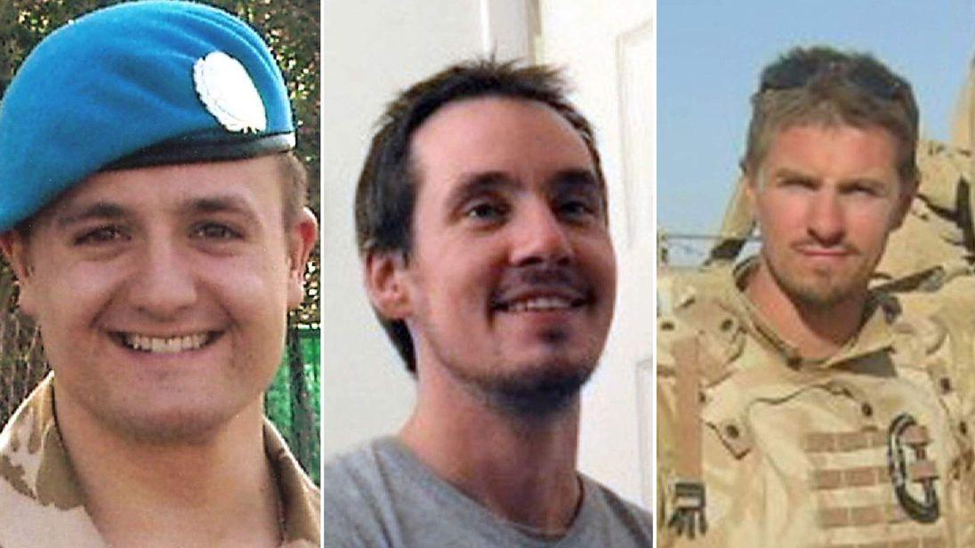 SAS L/Cpl Craig Roberts, L/Cpl Edward Maher, Cpl James Dunsby