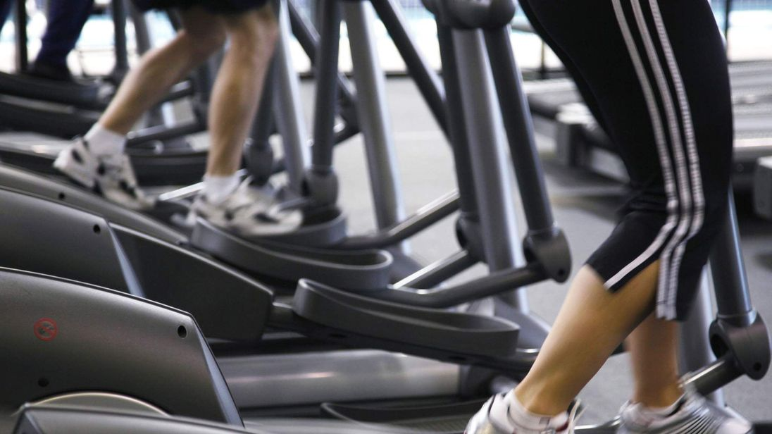 People on treadmill in a gym