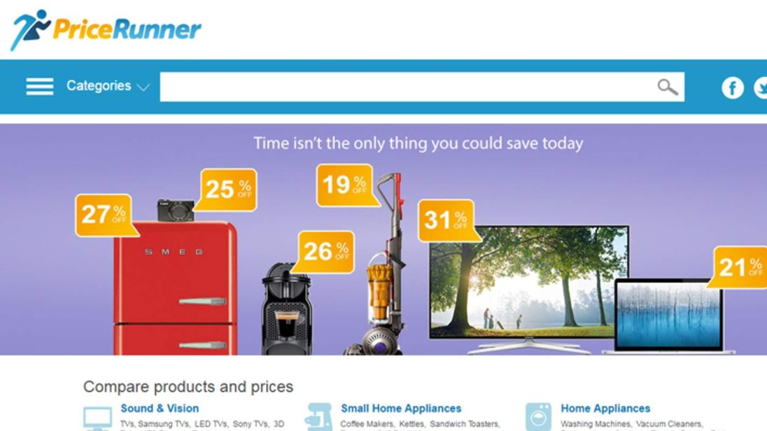 PriceRunner website