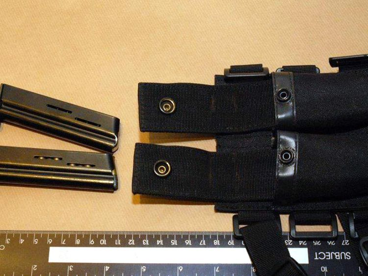 Pistol clips found at heather Exley's house