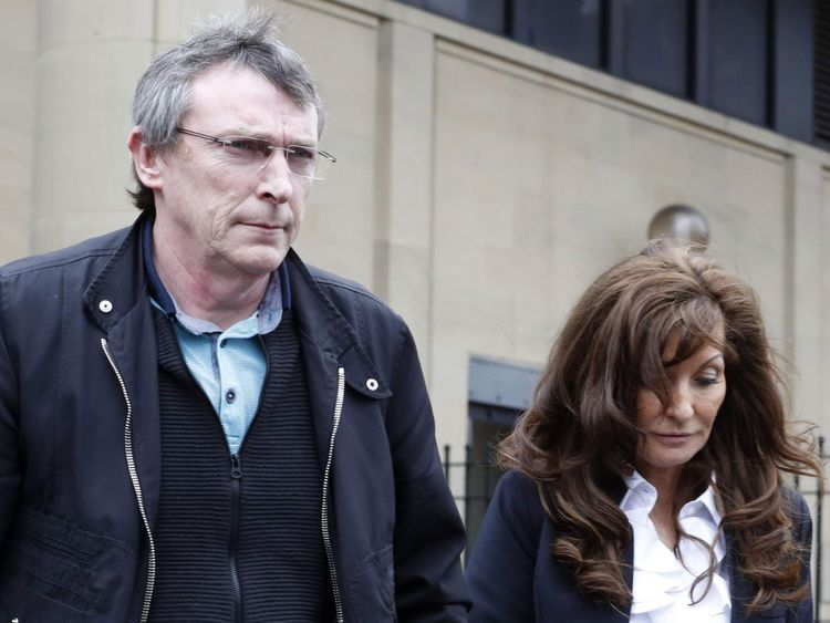 Adam Johnson's parents Dave and Sonia Johnson leave Bradford Crown Court