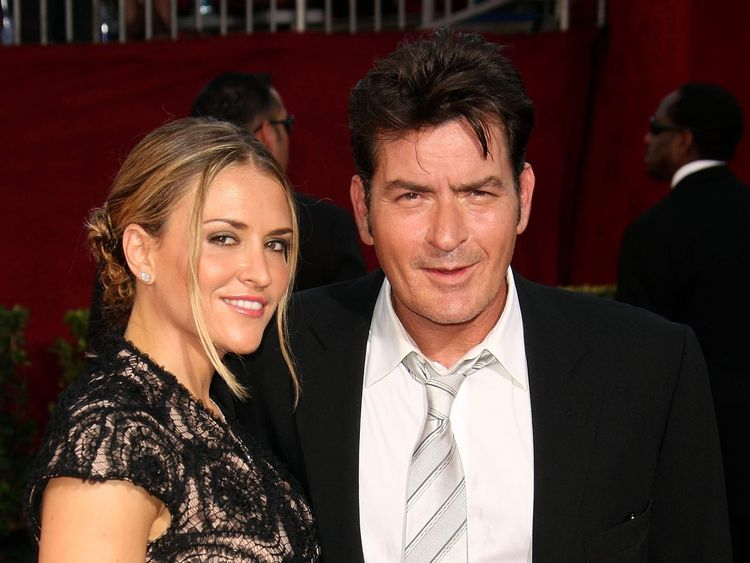 Charlie Sheen and his wife Brooke Mueller in September 2009
