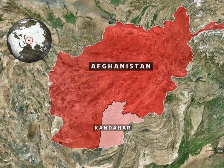 Map of Kandahar, Afghanistan