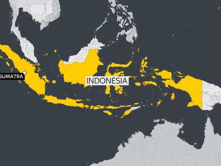 The quake hit off the coast of Sumatra in Indonesia