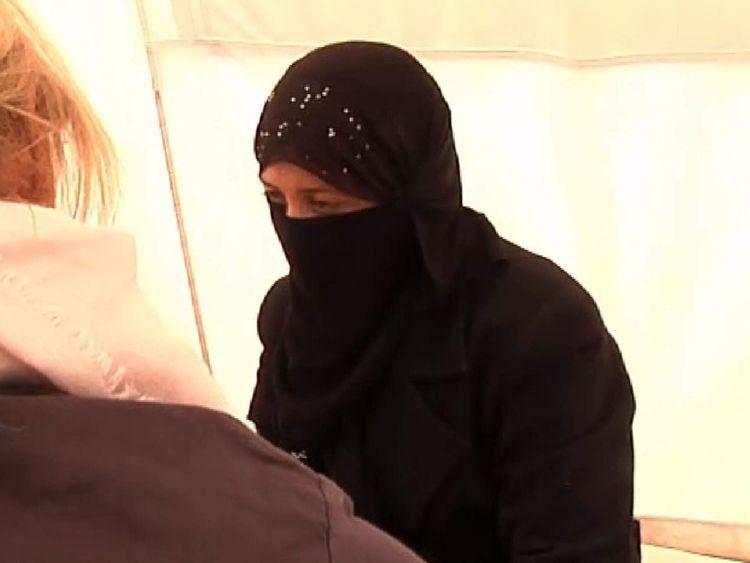 Rescued Yazidi woman