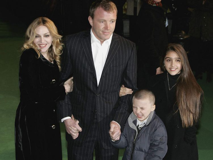 Madonna, Guy Ritchie, Rocco and Lourdes
