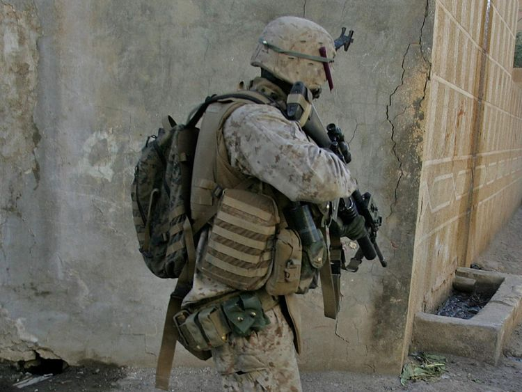 US marine in Iraq. File pic