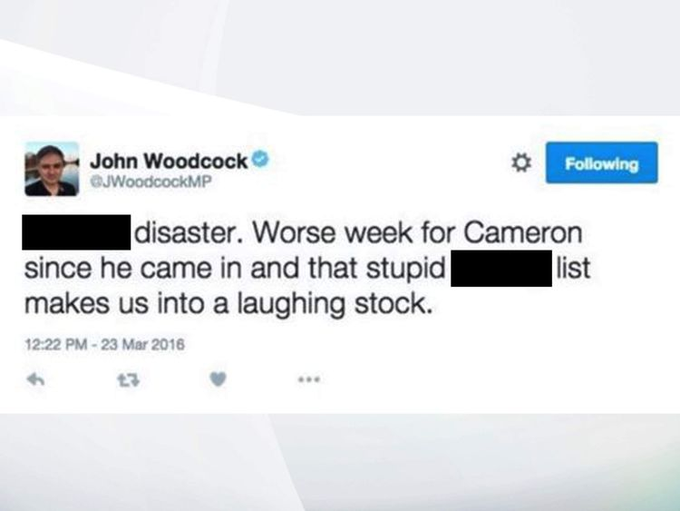 John Woodcock tweet