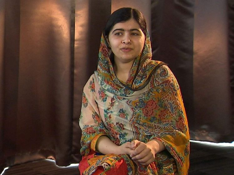 Malala Yousafzai, speaking exclusively to Sky News