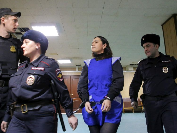 Nanny suspected of murdering a child in her care attends court hearing in Moscow