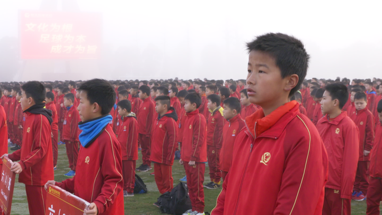Guangzhou Evergrande Academy is the biggest football school in the world