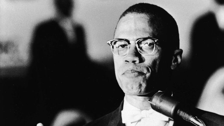 Malcolm X Speaks At Muslim Rally
