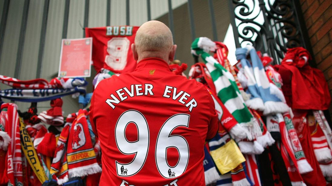 A Memorial Is Held For The 20th Anniversary Of The Hillsborough Tragedy
