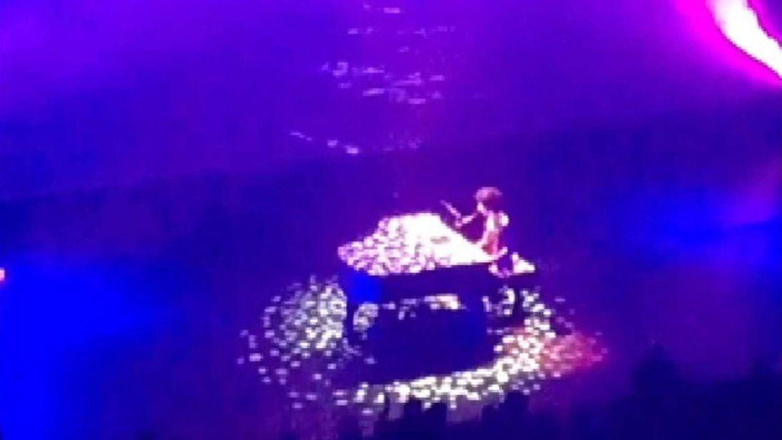 Prince performing Purple Rain