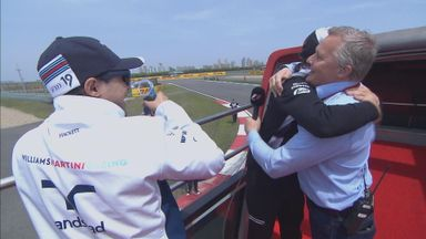 Alonso and Herbert hug it out