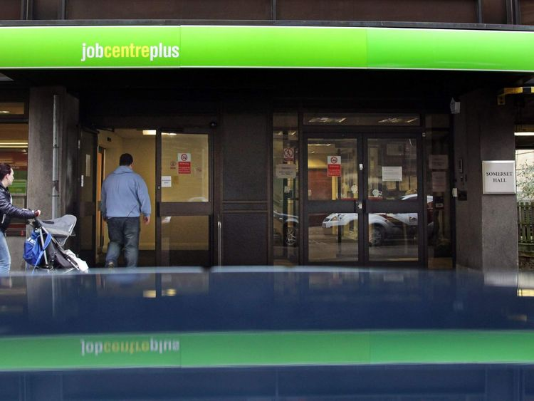 People enter the Jobcentre Plus