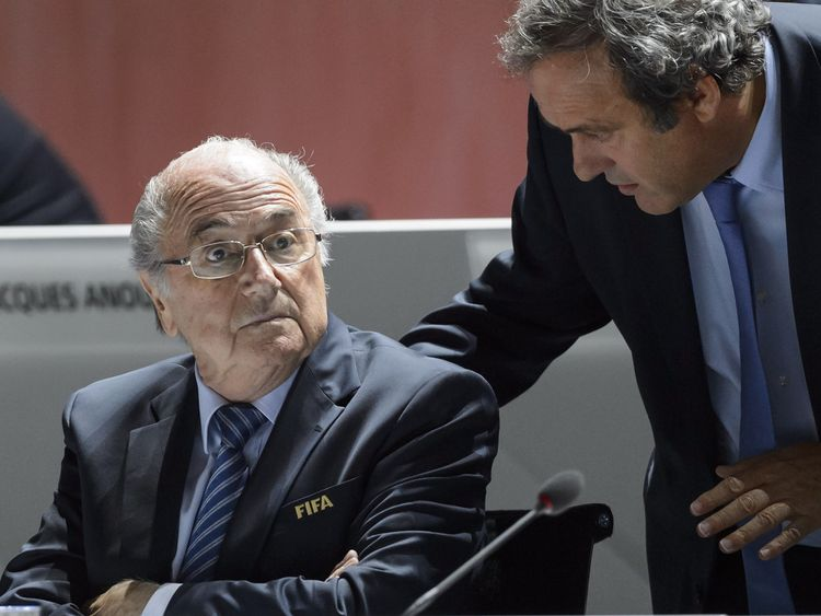 Sepp Blatter and Michel Platini were punished in December over a £1.3m 'disloyal payment'