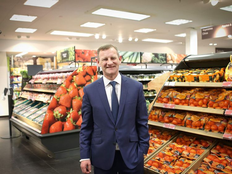 Chief executive of Marks and Spencer, Steve Row