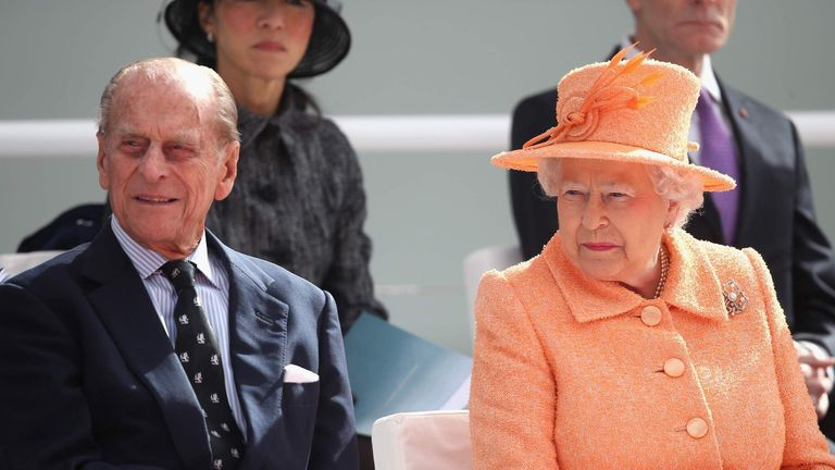 The Queen And Duke Of Edinburgh Attend Naming Ceremony Of P&O Cruise Ship Britannia