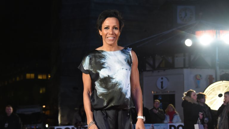 Dame Kelly Holmes attends the 'Dad's Army' World Premiere at Odeon Leicester Square on January 26, 2016