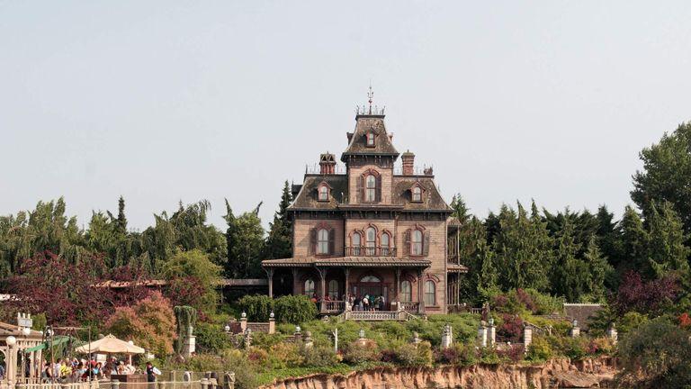 The Phantom Manor haunted house ride in Disneyland Paris, Marne-la-Vallee, near Paris, France.