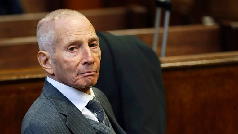 Real estate heir Robert Durst in a court in New York in 2014