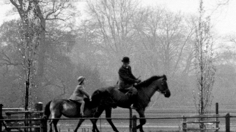 1933: Princess Elizabeth spending her 7th birthday riding her favourite pony in Windsor Great Pa