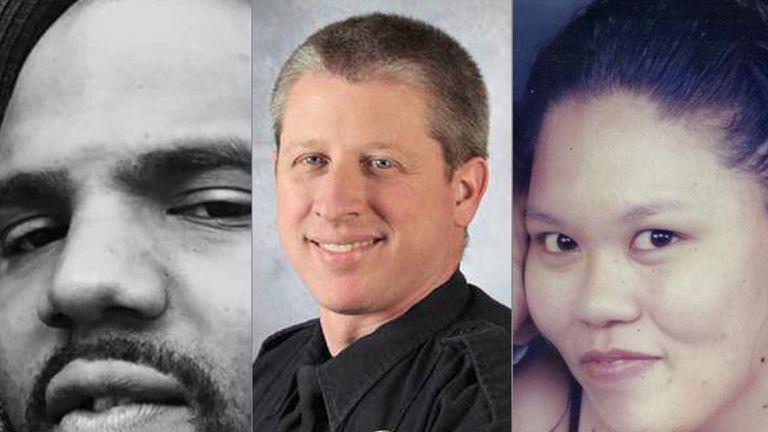 Ke'Arre Stewart (L), Garrett Swasey (C), Jennifer Markovsky