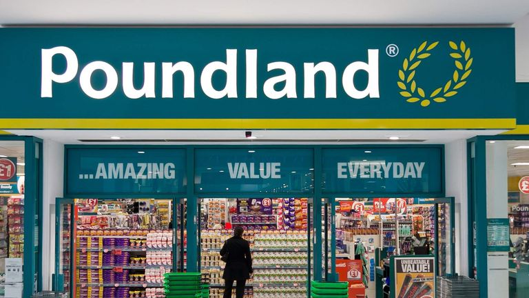 Undated photo handout from Poundland of Wolverhampton store