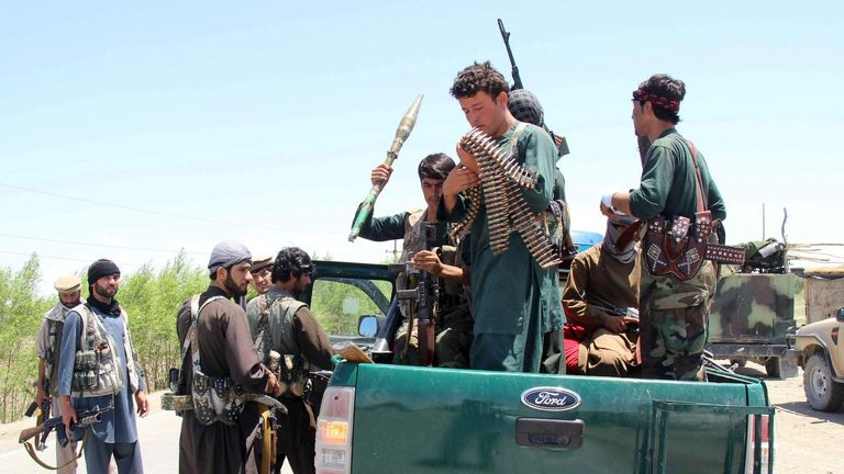 Afghan local police prepare for battle with Taliban at Chardara district, in Kunduz province, Afghanistan