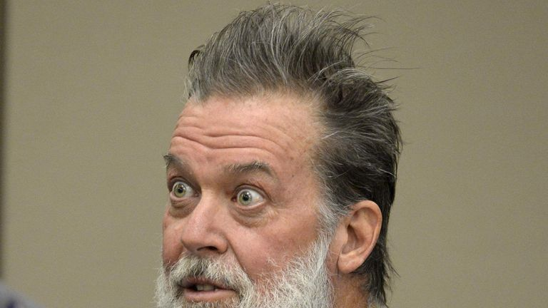 Robert Lewis Dear, 57, accused of shooting three people to death and wounding nine others at a Planned Parenthood clinic in Colorado last month, attends his hearing at an El Paso County court in Colorado Springs