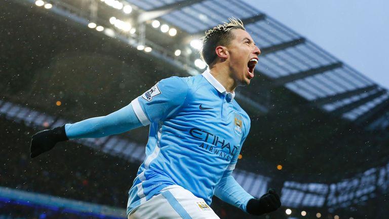 Samir Nasri scored Manchester City's winner against West Brom