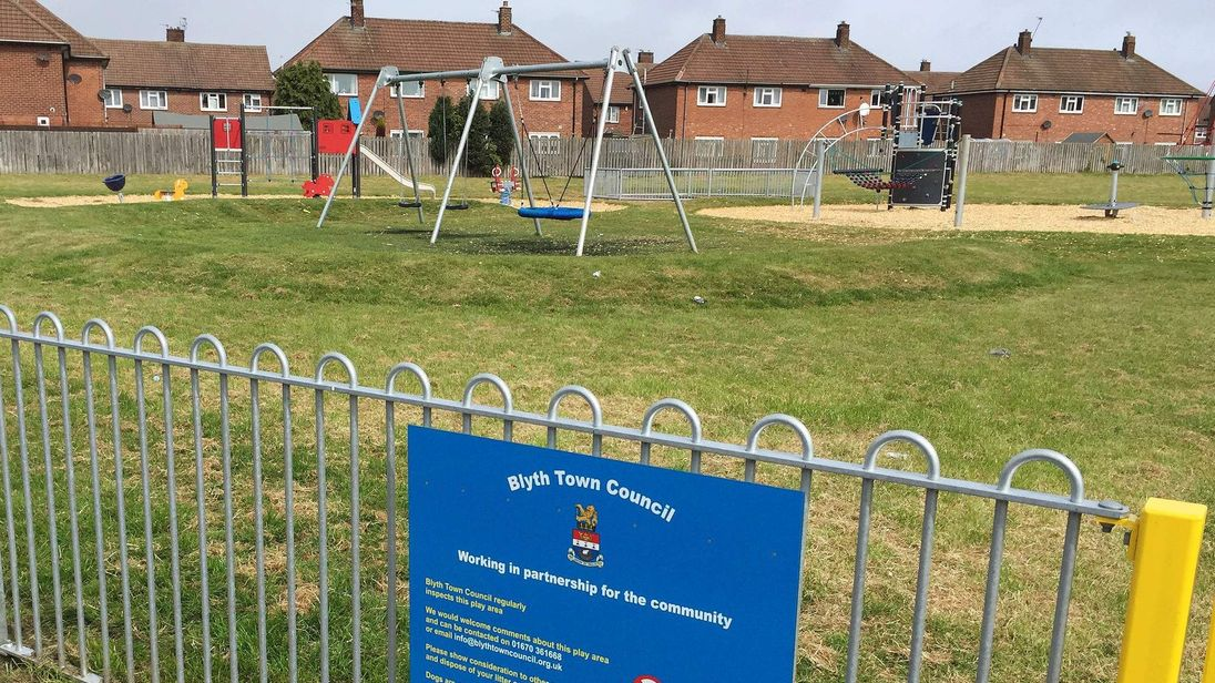 The Northumberland park where the bull terrier attacked the children