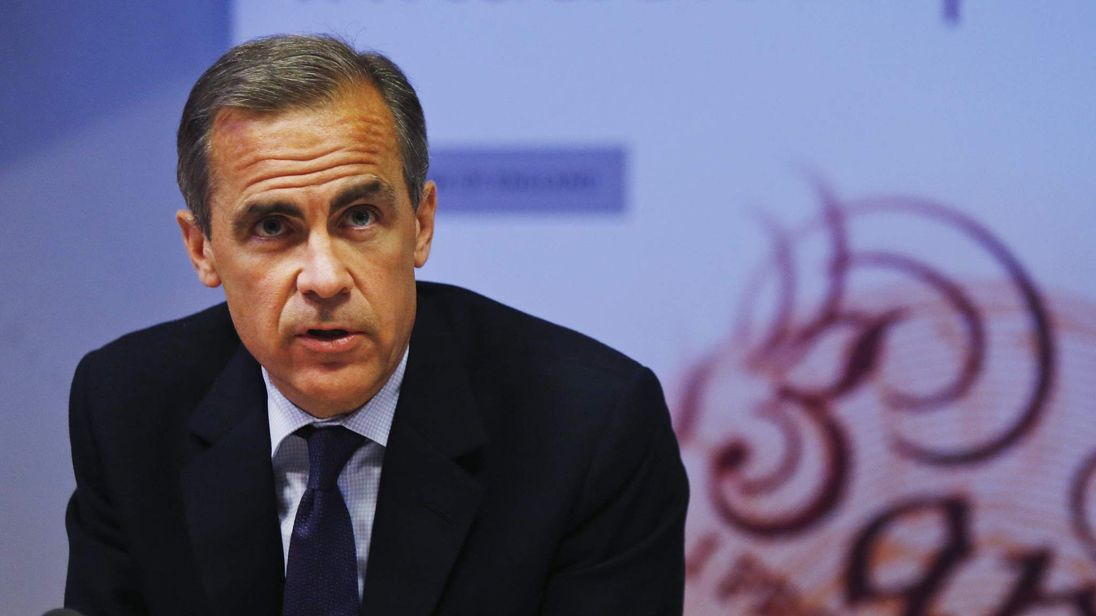 Mark Carney is the Governor of the Bank of England.