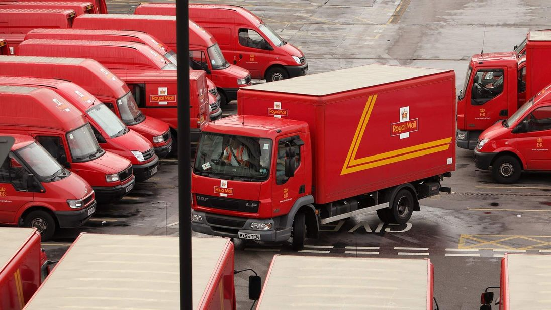 A Royal Mail delivery yard